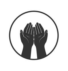 Hands symbol vector