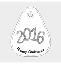 Happy new 2016 year Letters with doodle abstract vector