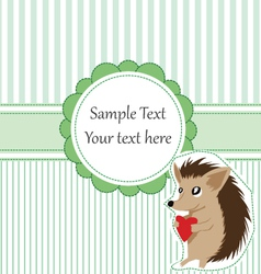 Hedgehog card vector