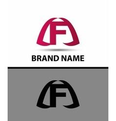 Letter f logo Alphabet logotype design vector