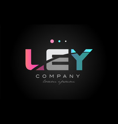 Ley l e y three letter logo icon design vector