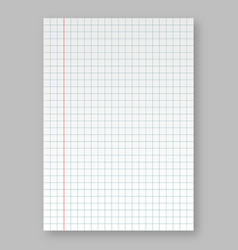 Lined paper from vector