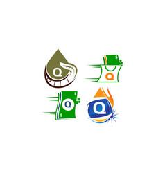 logotype q modern template set vector image