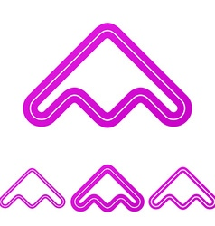 Magenta line product logo design set vector