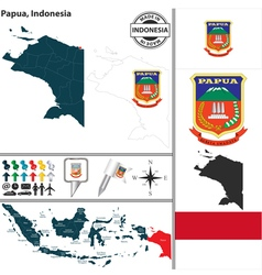 Map of papua vector