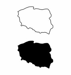 maps of poland vector image