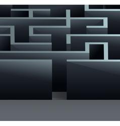 Maze 3d square vector