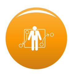 One businessman icon orange vector