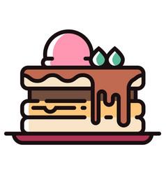 Pancake linecolor vector