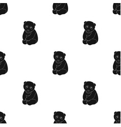 pandaanimals single icon in black style vector image