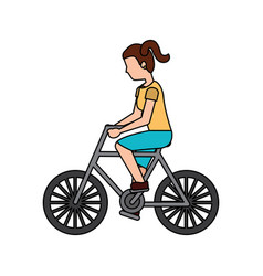 person riding bike icon image vector image