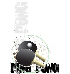 Ping pong poster background vector