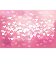 Pink festive lights in heart shape background vector