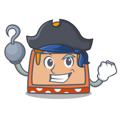 Pirate hand bag character cartoon vector