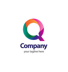 q company logo template design vector image