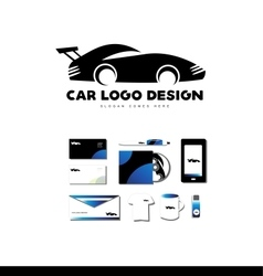 Race car logo icon design vector