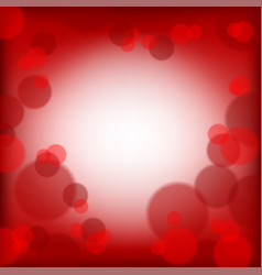 red valentines day background with bubbles vector image