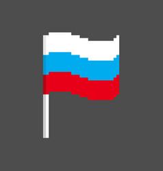 Russia pixel flag pixelated banner russian vector