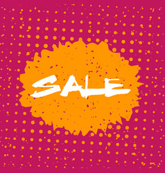 sale banner in retro style vector image