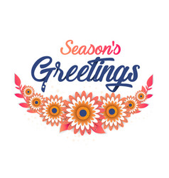 season s greeting template vector image