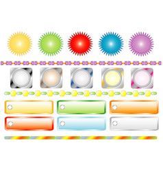Set colors buttons for web vector