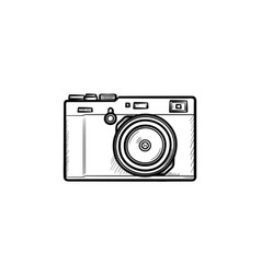 simple camera hand drawn outline doodle icon vector image