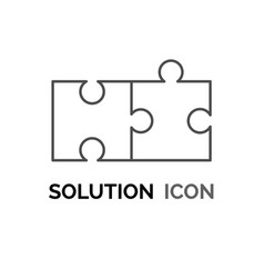 Simple solution puzzle concept solving problem vector