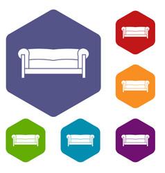Sofa icons set vector