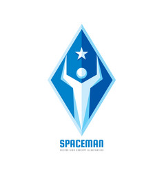 space man - logo template concept vector image