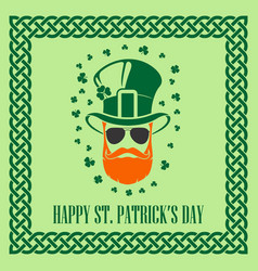st patricks day holiday poster or greeting card vector image