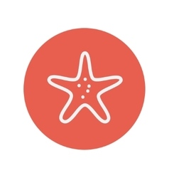 Starfish thin line icon vector image