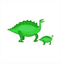 Stegosaurus Dinosaur Prehistoric Monster Couple Of vector image