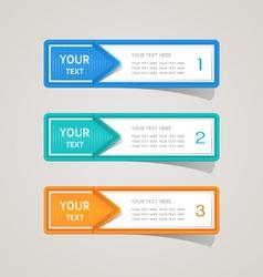 Sticker label paper colorful set vector image