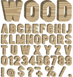 timber font vector image