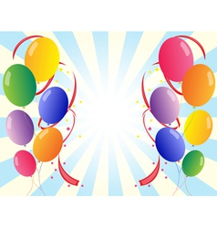 Twelve colorful party balloons vector