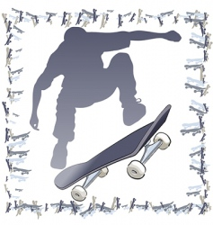 Vector skateboarder frame vector