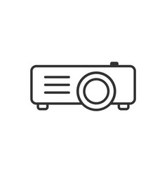 Video projector sign icon in flat style cinema vector