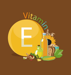 Vitamin e natural organic products with the vector