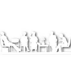 waiting room cutout vector image