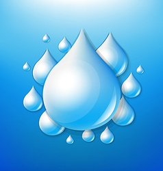 Water Drops Poster vector image