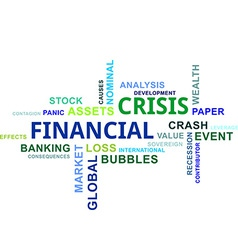 Word cloud financial crisis vector