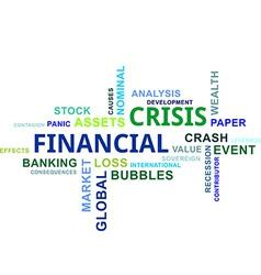 Word cloud financial crisis vector