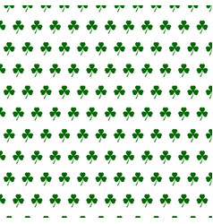 abstract seamless white and green shamrock vector image vector image