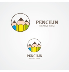 Design pencil logo element vector image vector image