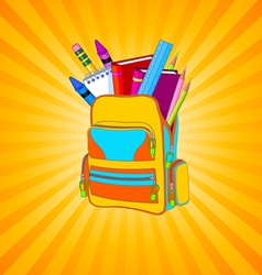 Full backpack vector image vector image