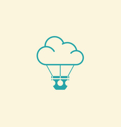 airballoon icon vector image