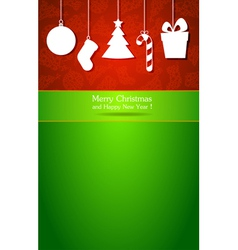 Christmas and New Year 4 vector image vector image