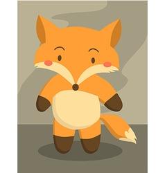 Cute Little Fox Cartoon vector image vector image