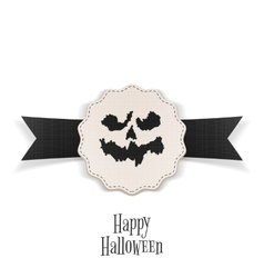Happy Halloween Banner with Ribbon Template vector image