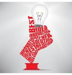 ok hand lamp bulb vector image vector image